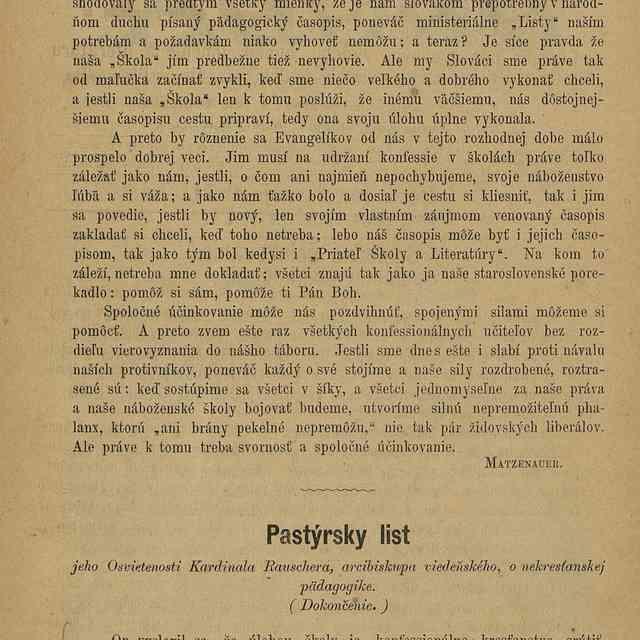Pastýrsky list : - Othmár, Jozef