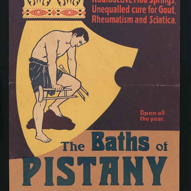propagačný plagát piešťanských kúpeľov