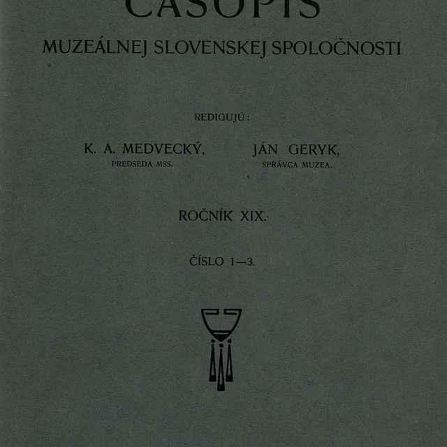 Časopis Museálnej slovenskej spoločnosti
