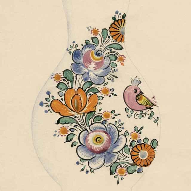 Maľovaný džbán z Modry 008-01