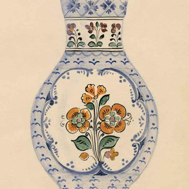 Maľovaný džbán z Modry 009-01