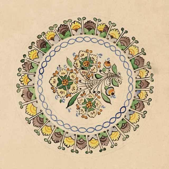 Maľovaný tanier z Modry 004-01