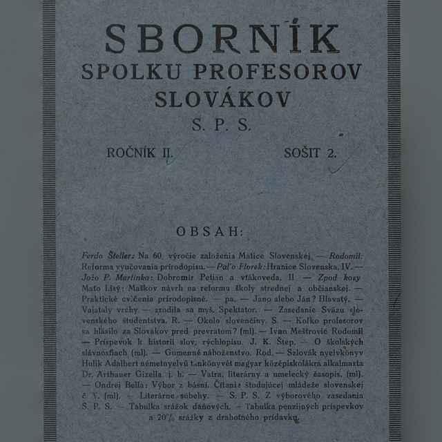 Sborník Spolku profesorov Slovákov