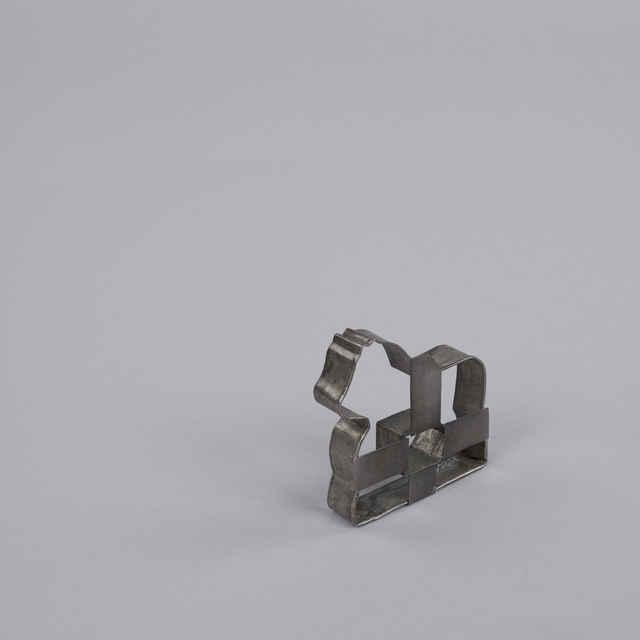 Forma medovníkarska plechová, tvar koníka, predmety z medovníkarskej dielne Štefana Fecka