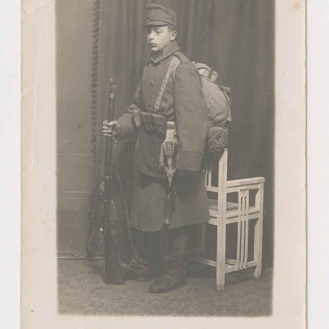 Pohľadnica: Portrét vojaka