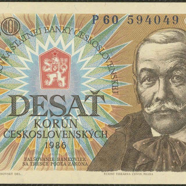 Bankovka 10 Kčs (krajina, flóra) - Brunovský, Albín