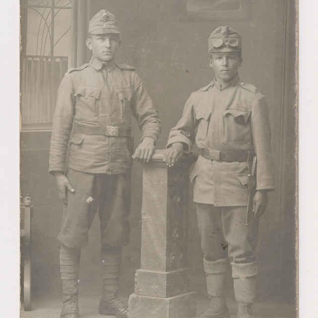 Pohľadnica: Portrét vojakov