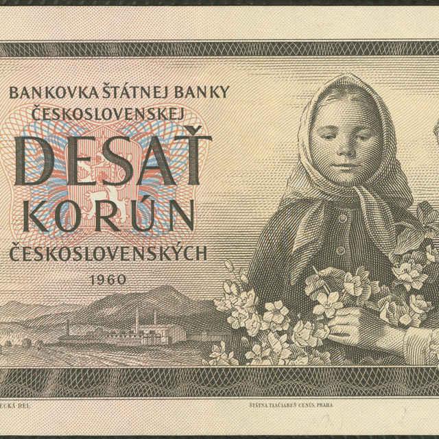 Bankovka 10 Kčs (flóra, krajina) - Medvecká, Mária