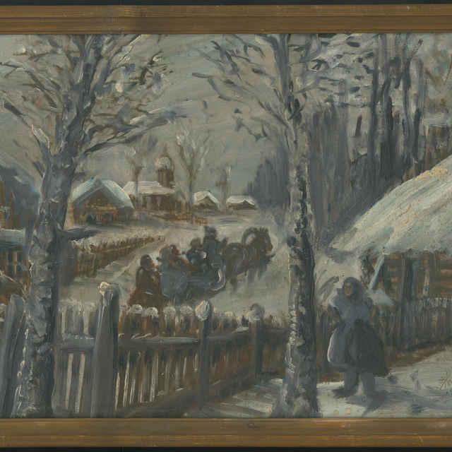Krajina v zime - neznámy (korporácia)