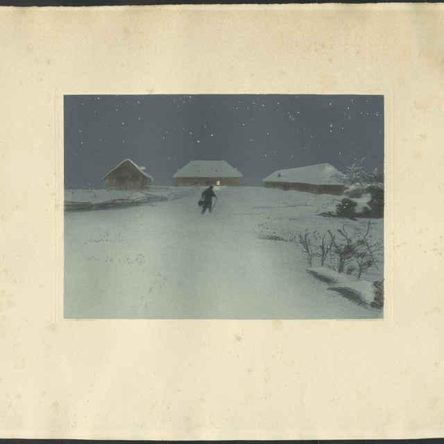 Noc v zime - Michalek, Ludwig