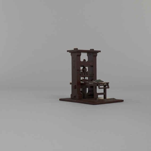 Model knihtlačiarenského lisu