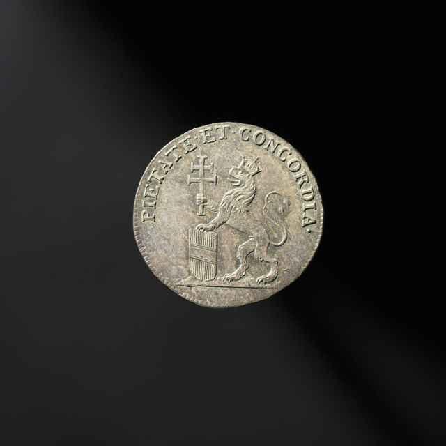 Pamätná medaila na bratislavskú korunováciu Leopolda II. ako uhorského kráľa, strieborná