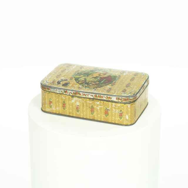 Krabička na čaj, plechová - neznámy (osobné meno)