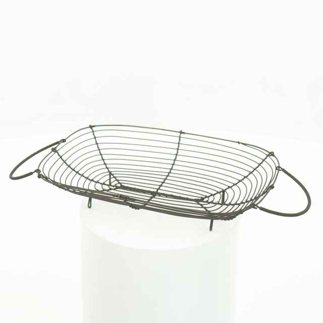 Košík drôtený oválny