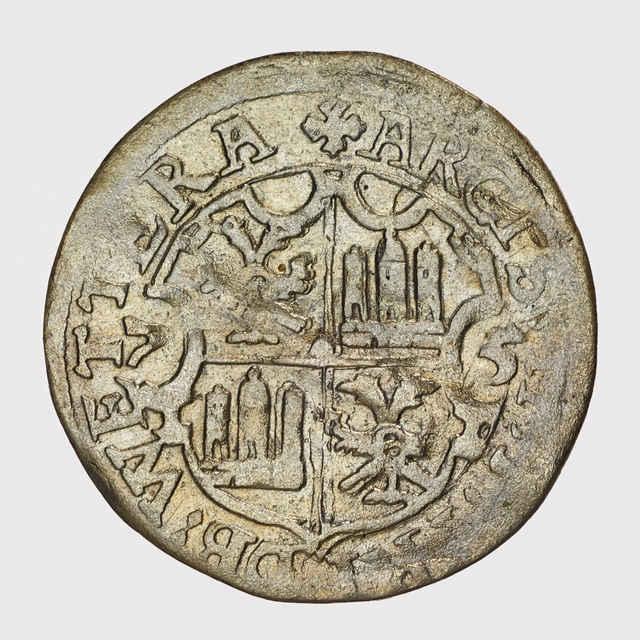 Minca 1/2 batzen ( hrad Friedberg 1575 )