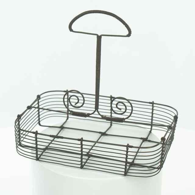 košík drôtený na poháre