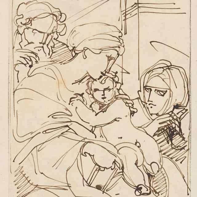 Madona s dieťaťom a dvomi svätými - Camuccini, Vincenzo