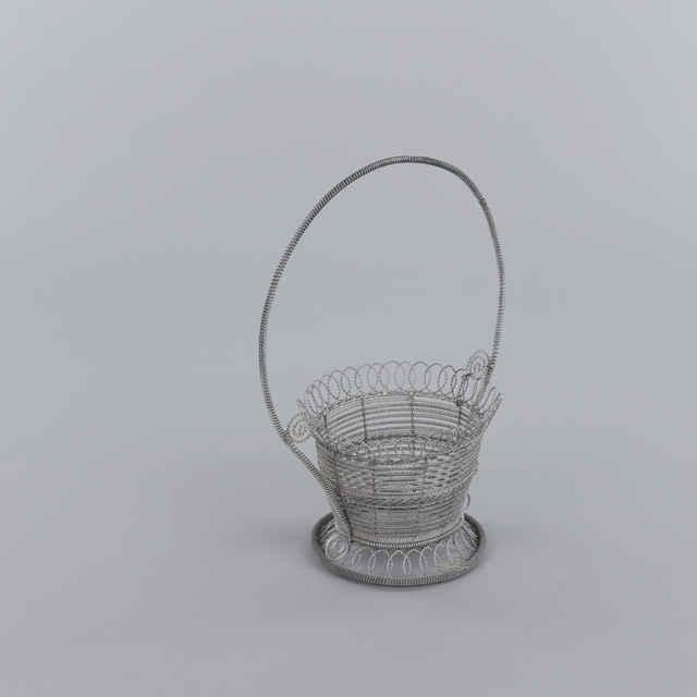 Košík zdobený, drotárska práca - Hozák, Alexander