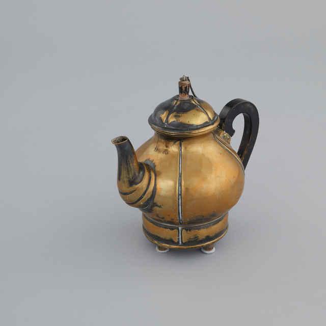 Čajník stolný s vrchnákom, alpaka