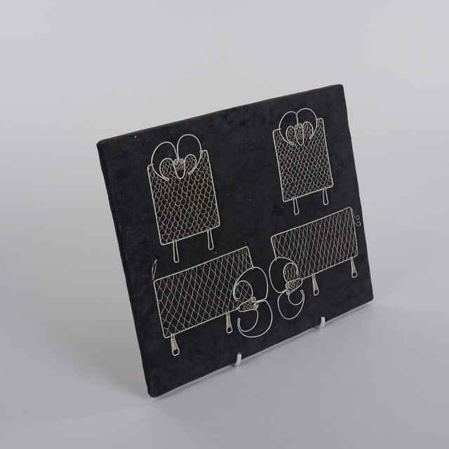 Barany, postriebrený drôt - Umelecké výrobky z drôtu