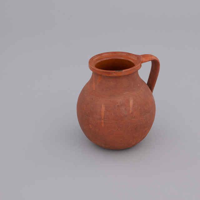 Džbán keramický hnedý s uškom na víno