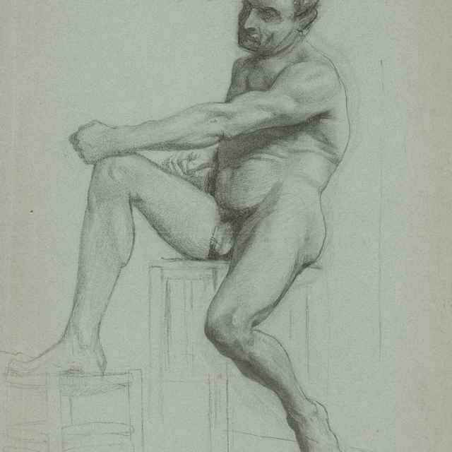 Akt sediaceho muža - Katona, Ferdinand