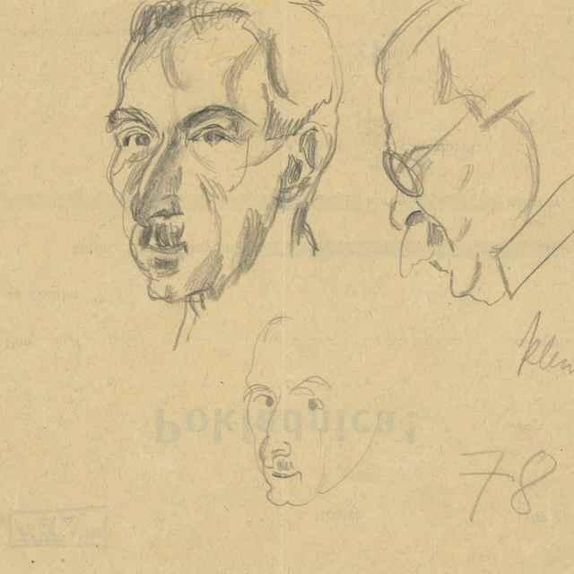 Štúdie mužských hláv - Bauer, Konštantín