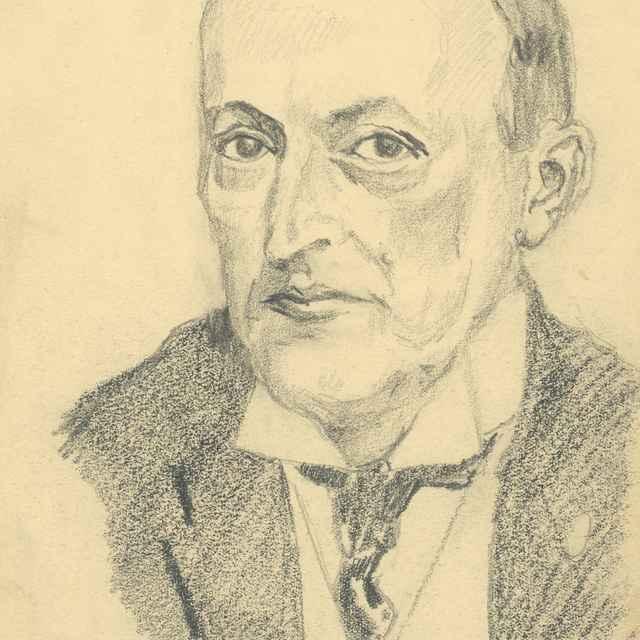 Štúdia hlavy muža-Müller - Bauer, Konštantín
