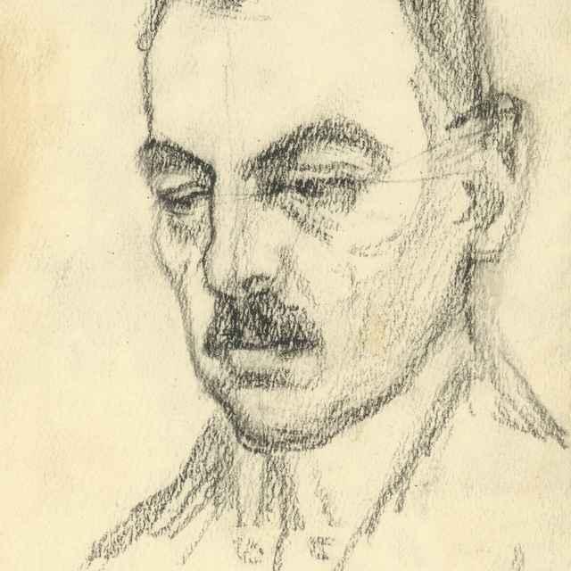 Štúdia hlavy muža - Bauer, Konštantín