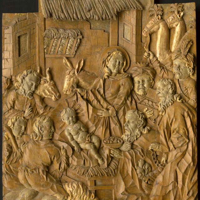 Klaňanie troch kráľov, drevený reliéf, okolo roku 1650