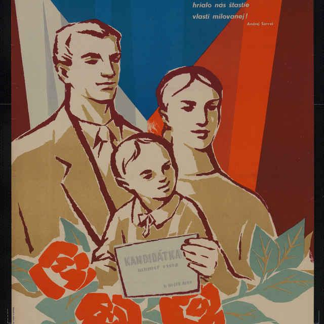 Plagát volebný Aby bol mier..., farebný, 1960 - G. Lehén