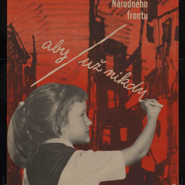 Plagát volebný Volíme kandidátov NF, farebný, 1960 - J. Tománek