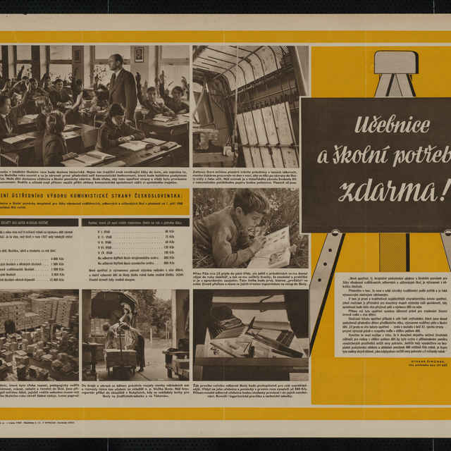 Plagát obojstranný - nástenka, s fotografiami, 1960