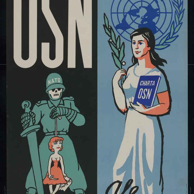 Plagát k 15. výročiu OSN, farebný, 1960 - Štefan Bednár