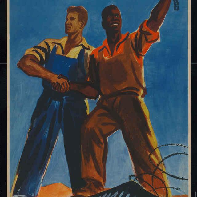 Plagát ZDRAVÍME BOJ AFRICKÝCH NÁRODOV..., farebný, 1960 - Z. Filip