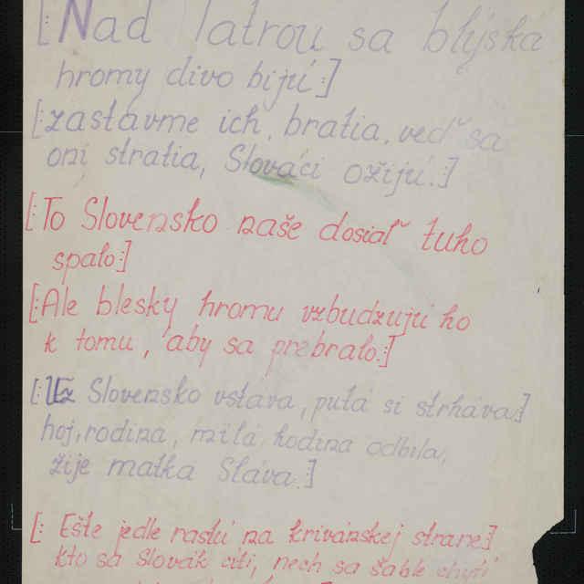 Plagáty dokumentujúce revolučné dianie od 17. 11. 1989