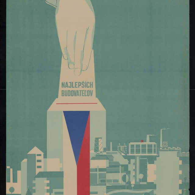 Plagát volebný Volíme najlepších..., farebný, 1960 - R. Altrichter