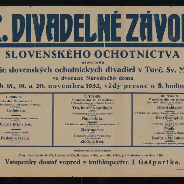 Plagát - IX. Divadelné závody