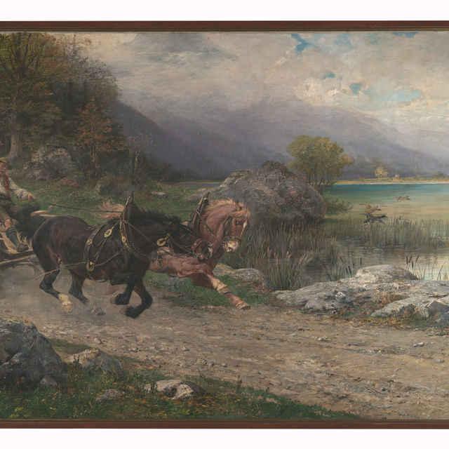 Splašené kone - Blaas, Julius von