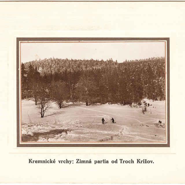 Kremnické vrchy - Zimná partia od Troch krížov