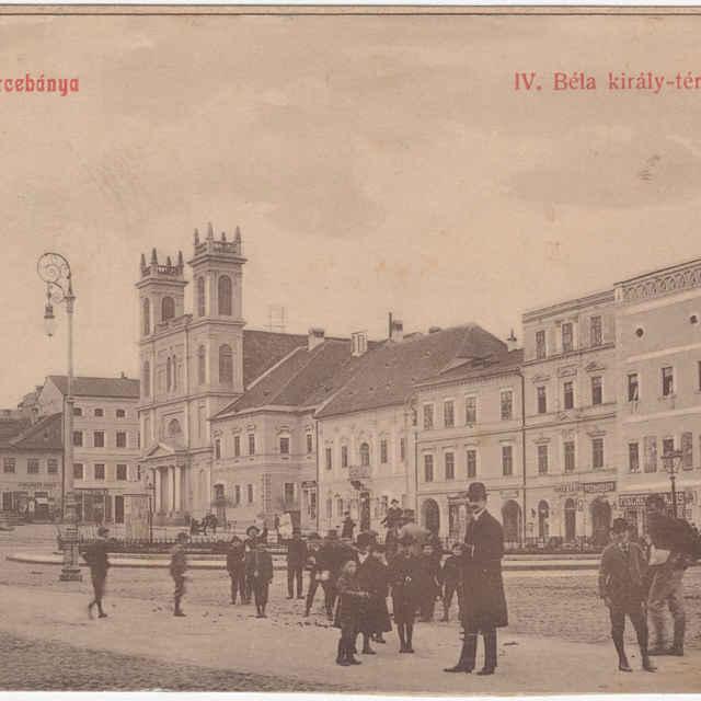 Banská Bystrica - Námestie kráľa Bela IV. (Námestie SNP), pohľadnica, do roku 1908
