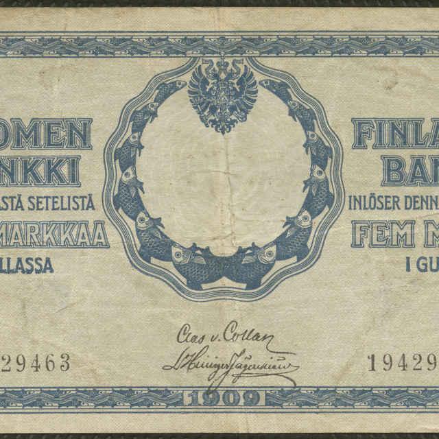 Bankovka 5 mariek (fauna, krajina)