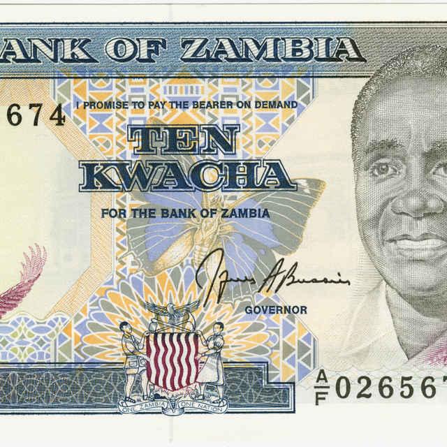 Bankovka 10 kwacha (fauna)