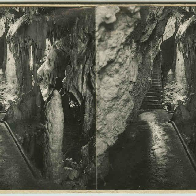 Demänovská jaskyňa Slobody (stereofotografia) - R. Pruner, Praha