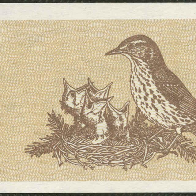 Bankovka 10 talonas (fauna, flóra)