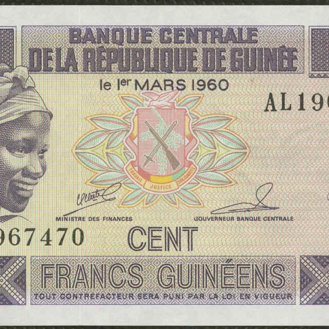 Bankovka 100 francs (poľnohospodárske práce, flóra)