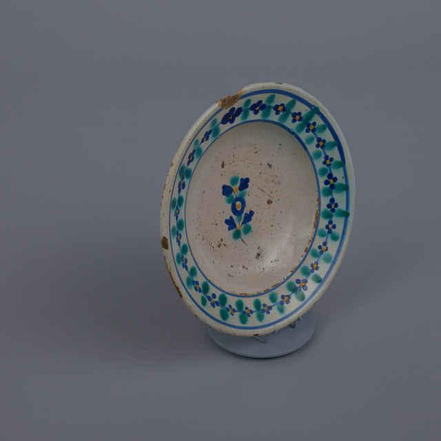 Tanier fajansový s modrým dekorom, Slovenský Grob, zač.20.storočia