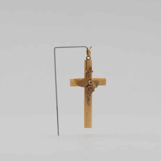 Krížik zlatý s obrazom (Posledná večera), 1,40 g