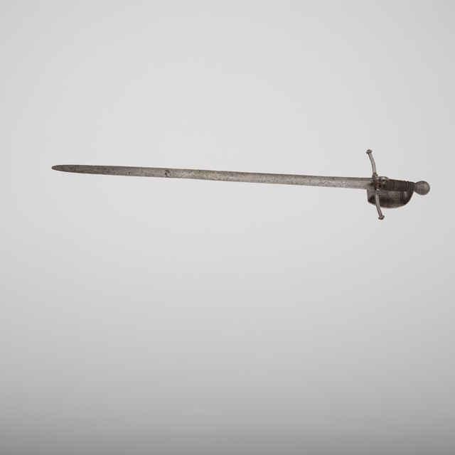 Kord (pôvodne evidovaný ako meč), r. 1530-40, 87cm, Passau, drevená rukoväť, žel. drôt, pasovská značka