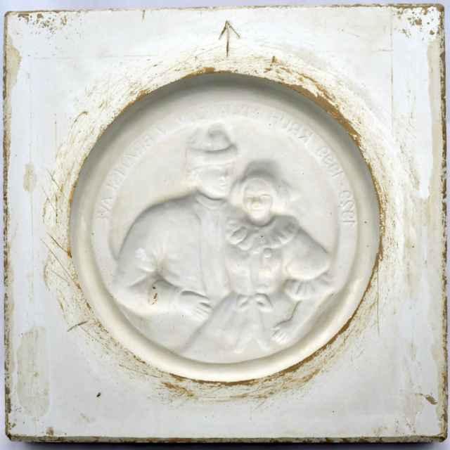 Forma na kachlice sadrová - Hanusková, Mária